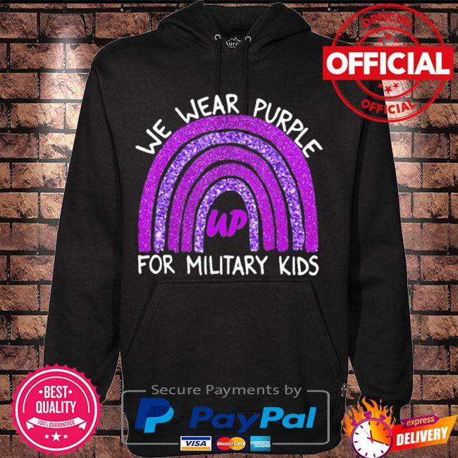 Official we wear purple up for military kids military child month s Hoodie black