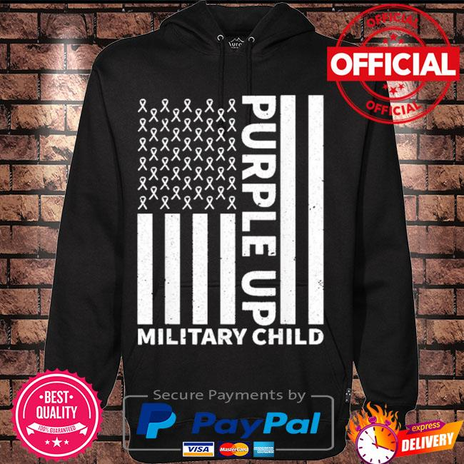 Purple up for military child military month s Hoodie black