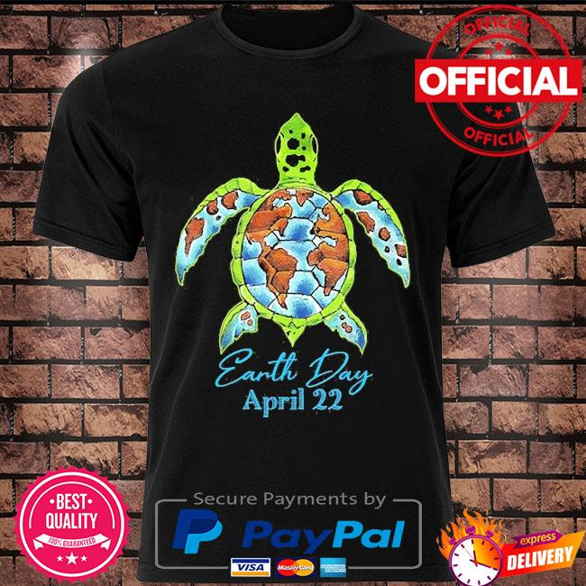 Sea turtle planet love world environment earth day shirt