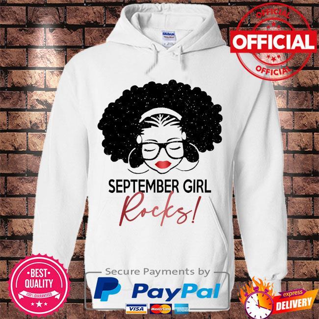 September Girl Rocks s Hoodie white