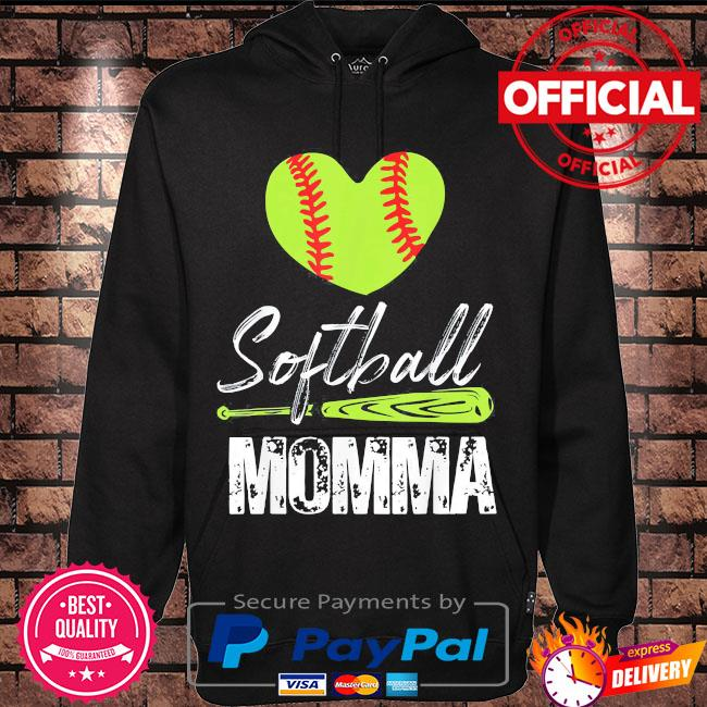 Softball momma catcher pitcher mothers day us 2021 s Hoodie black
