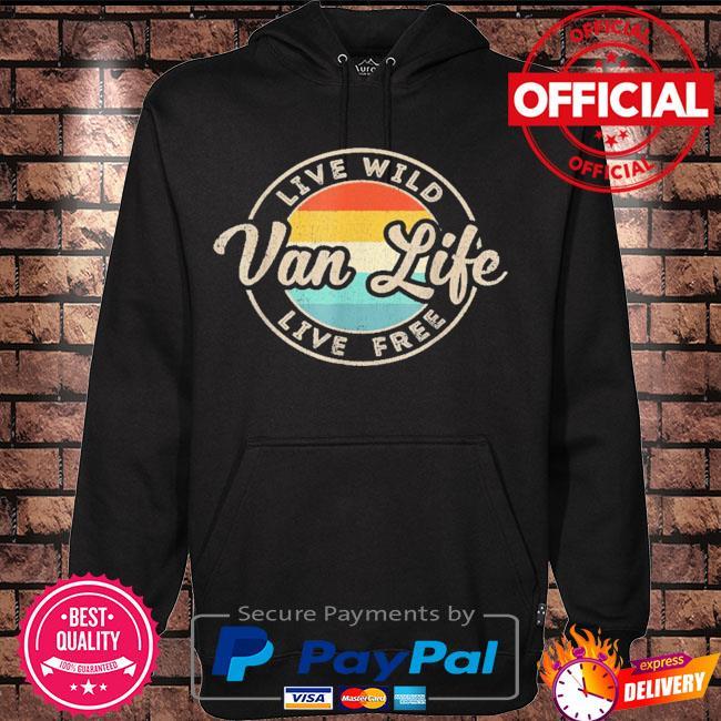 Van life clothing retro vintage van dwellers vanlife nomads s Hoodie black