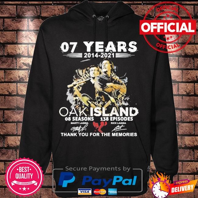 07 years 2014 2021 The Curse Of Oakland thank you for the memories signatures s Hoodie black