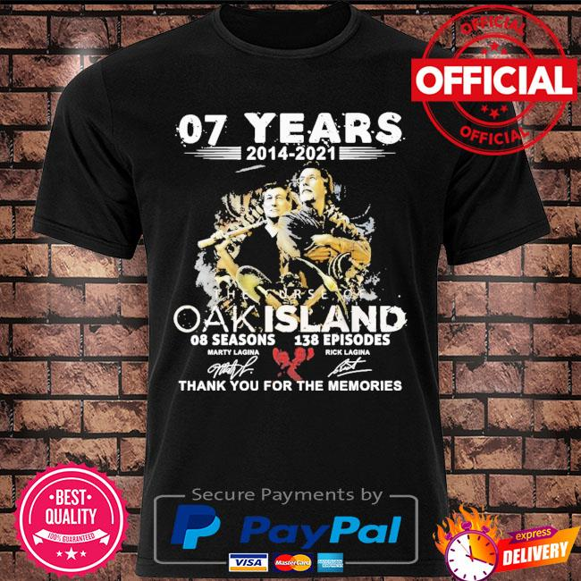 07 years 2014 2021 The Curse Of Oakland thank you for the memories signatures shirt