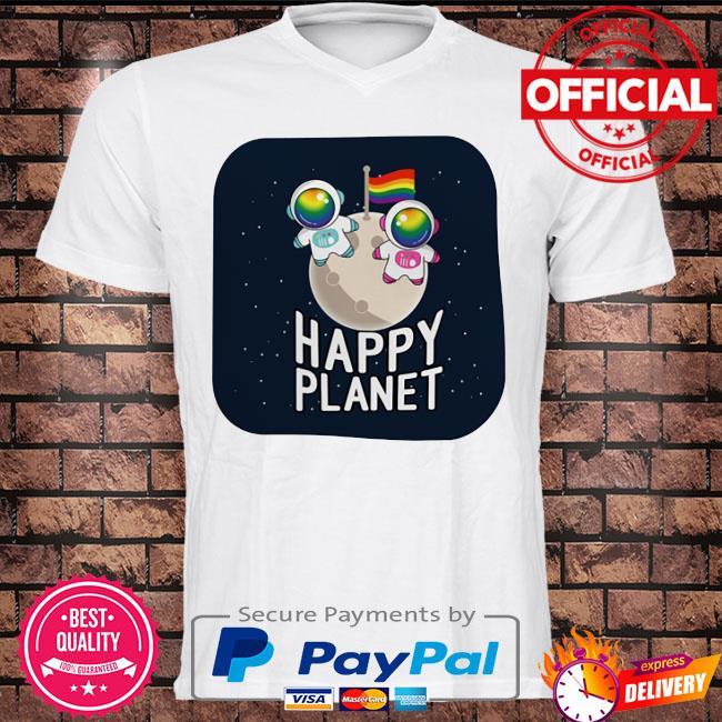 Astronaut LGBT happy planet shirt