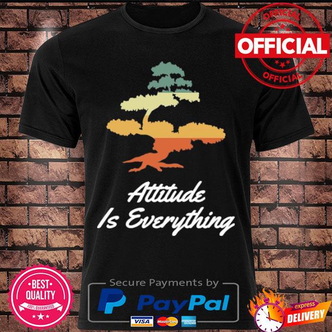 Attitude is everything bonsai tree japanese plant vintage shirt