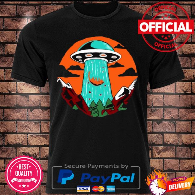 Cat alien abduction gift cat lovers ufo alien shirt