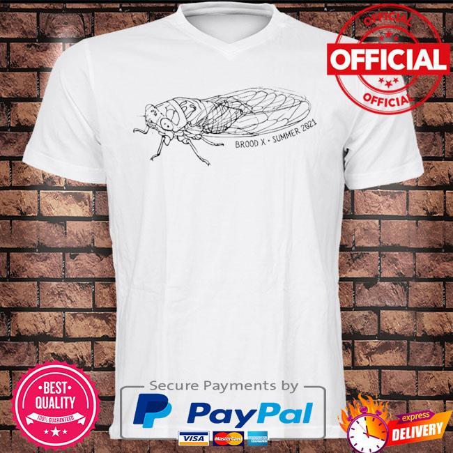 Cicadas brood x 2021 commemorative minimalist art cicada shirt