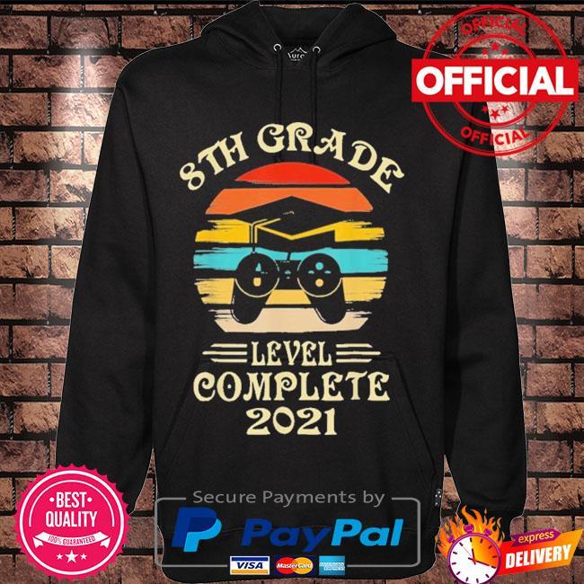 Gamer 8th grade graduation for girls boys 2021 vintage s Hoodie black