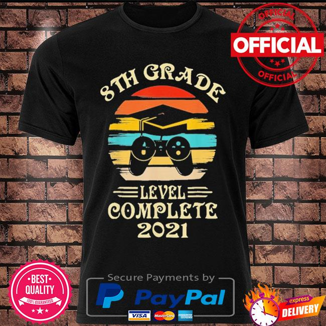 Gamer 8th grade graduation for girls boys 2021 vintage shirt