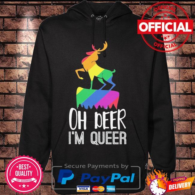 LGBT oh deer Im queer s Hoodie black