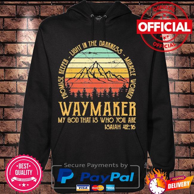 Official waymaker miracle worker promise keeper jesus christ vintage s Hoodie black