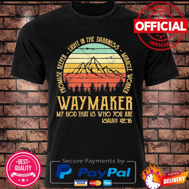 Official waymaker miracle worker promise keeper jesus christ vintage shirt