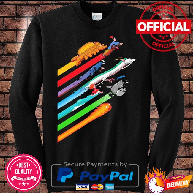 Rainbow studio ghibli s Sweater black