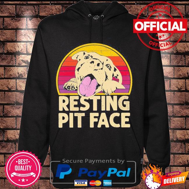 Resting pit face vintage s Hoodie black