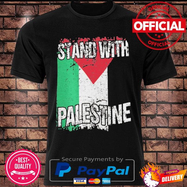 Stand with palestine vintage distressed palestinian flag shirt