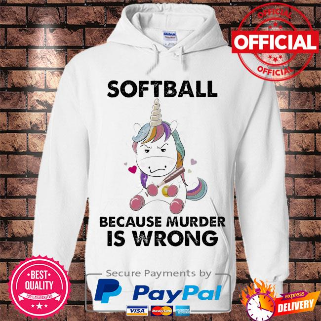 Unicorn because murder is wrong s Hoodie white