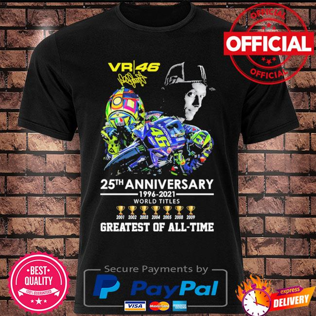 Valentino rossi 25th anniversary greatest of all-time signature shirt