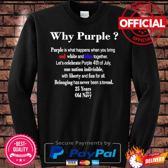 Why purple is what happens when you bring red white and blue together s Sweater black