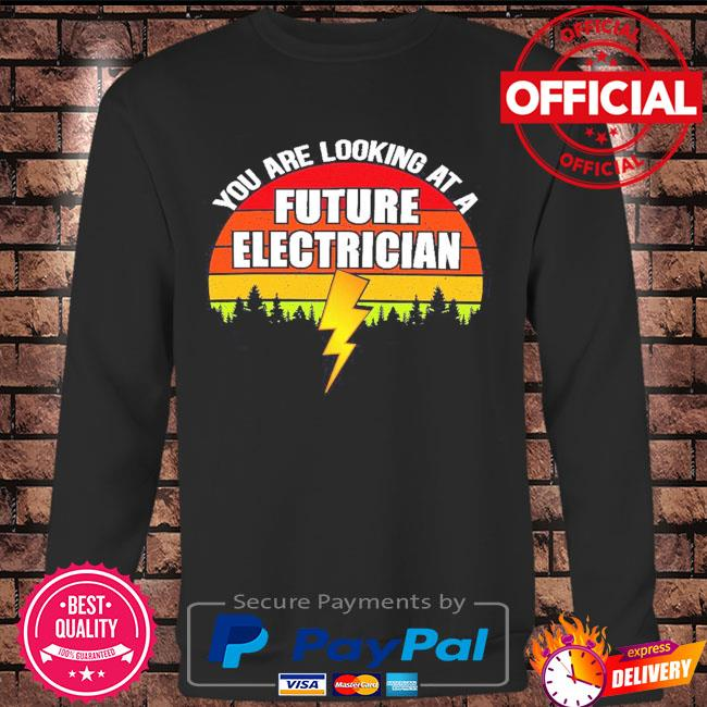 You are looking at a future electrician sunset retro s Long sleeve black