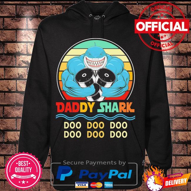 Daddy shark doo doo doo vintage s Hoodie black