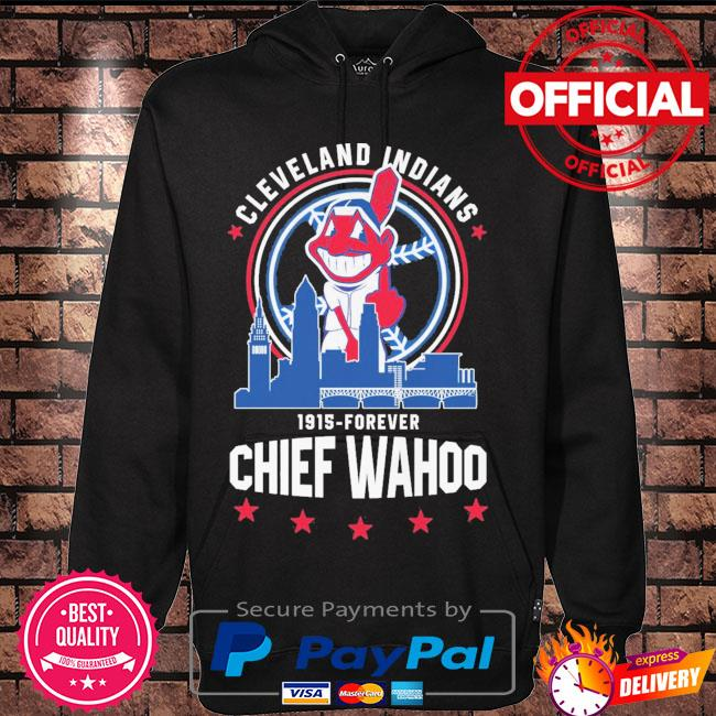 Funny Cleveland Indians 1915-Forever Chief Wahoo s Hoodie black