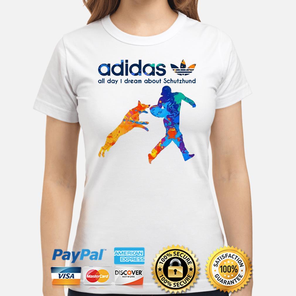 Adidas All Day Dream About Schutzhund ladies Shirt