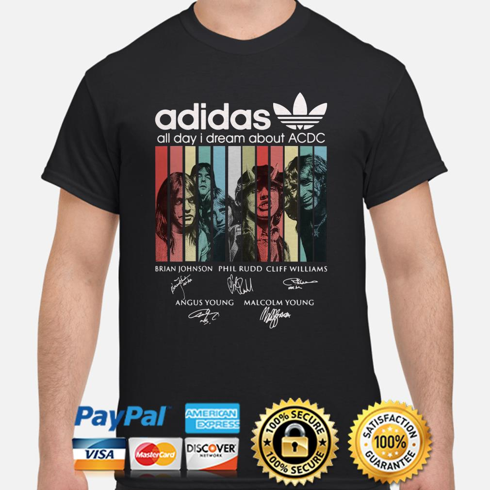 Adidas All Day I Dream About ACDC Vintage Shirt