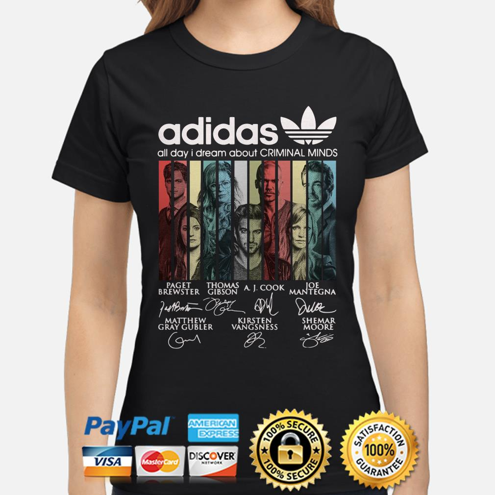Adidas All Day I Dream About Criminal Minds Vintage ladies shirt