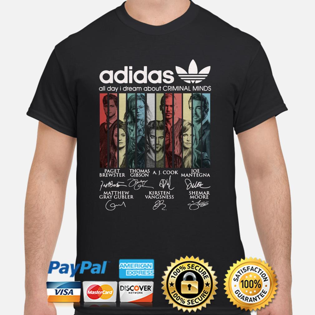 Adidas All Day I Dream About Criminal Minds Vintage Shirt
