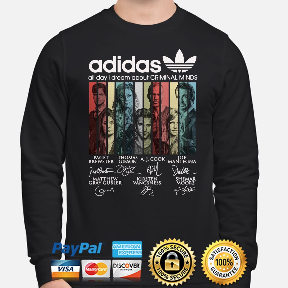 Adidas All Day I Dream About Criminal Minds Vintage sweater