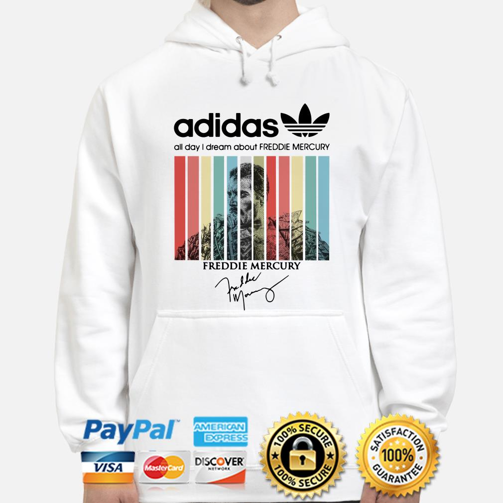 Adidas All Day I Dream About Freddie Mercury Vintage hoodie