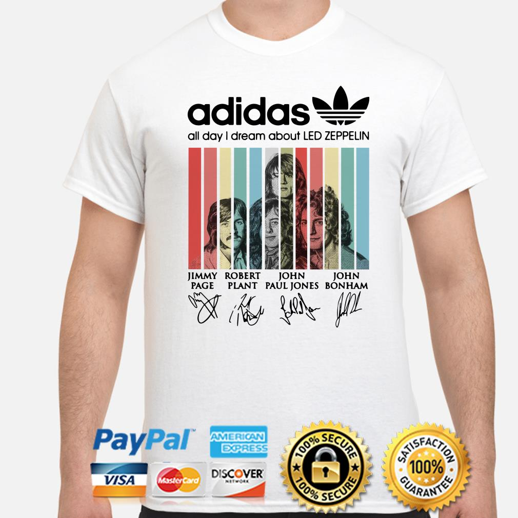 Adidas All Day I Dream About Led Zeppelin Vintage Shirt