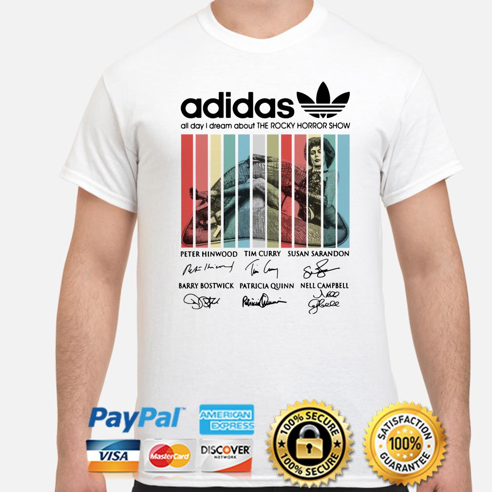 Adidas All Day I Dream About Rocky Horror Retro Vintage Shirt