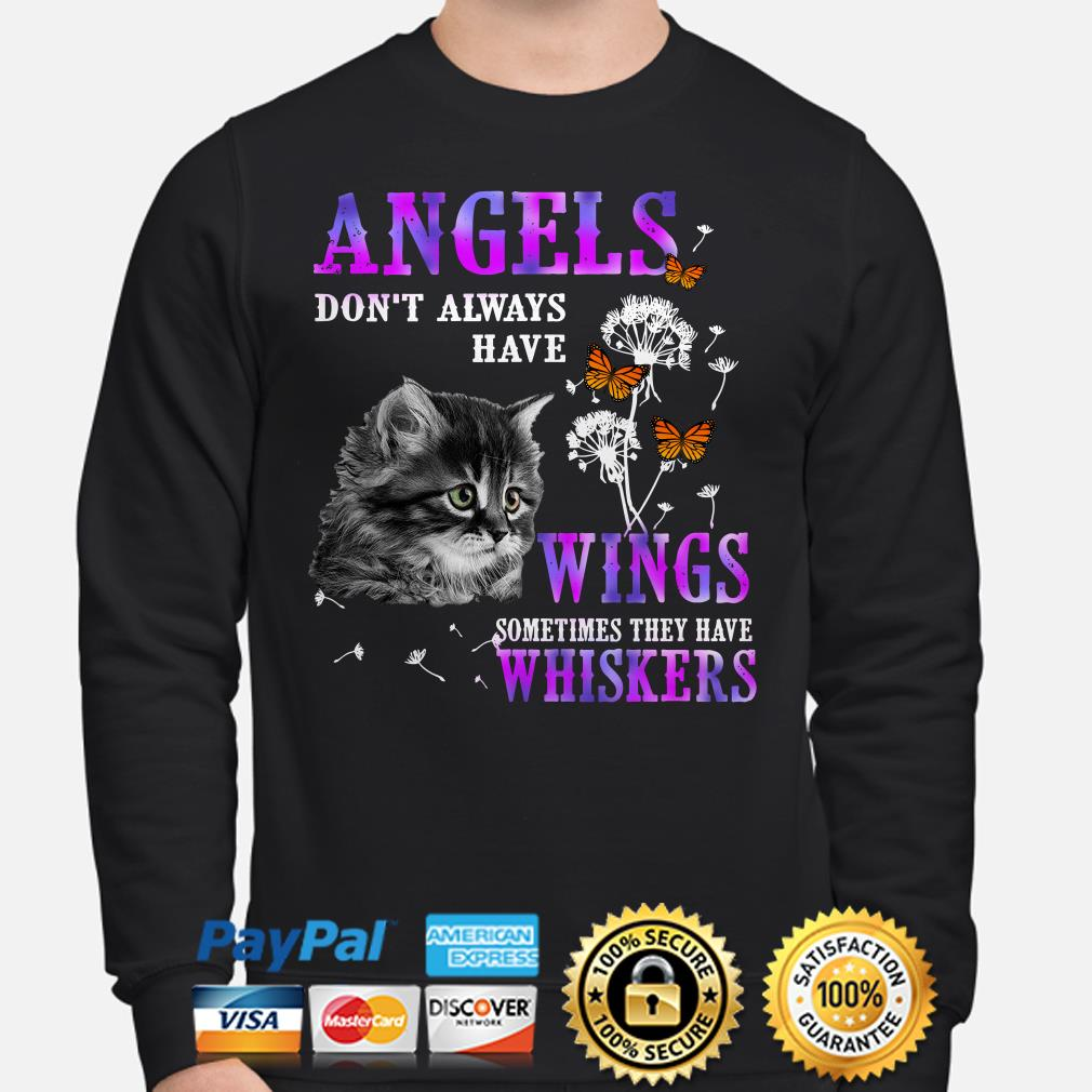 Angels Dont Always Have Wings Sometimes They Have Whiskers Cat Sweater