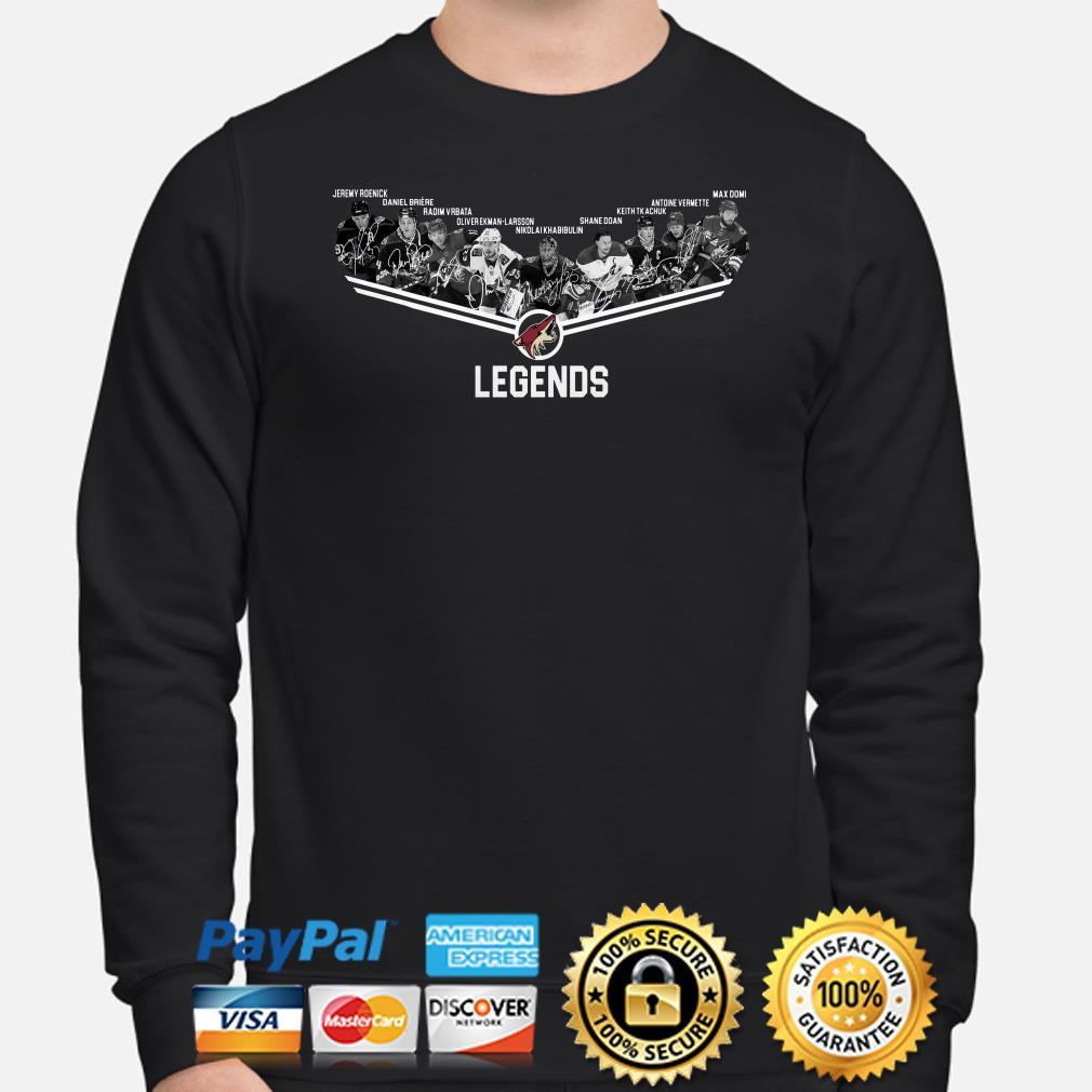 Arizona Coyotes Legends Players Jeremy Roenick Daniel Briere sweater