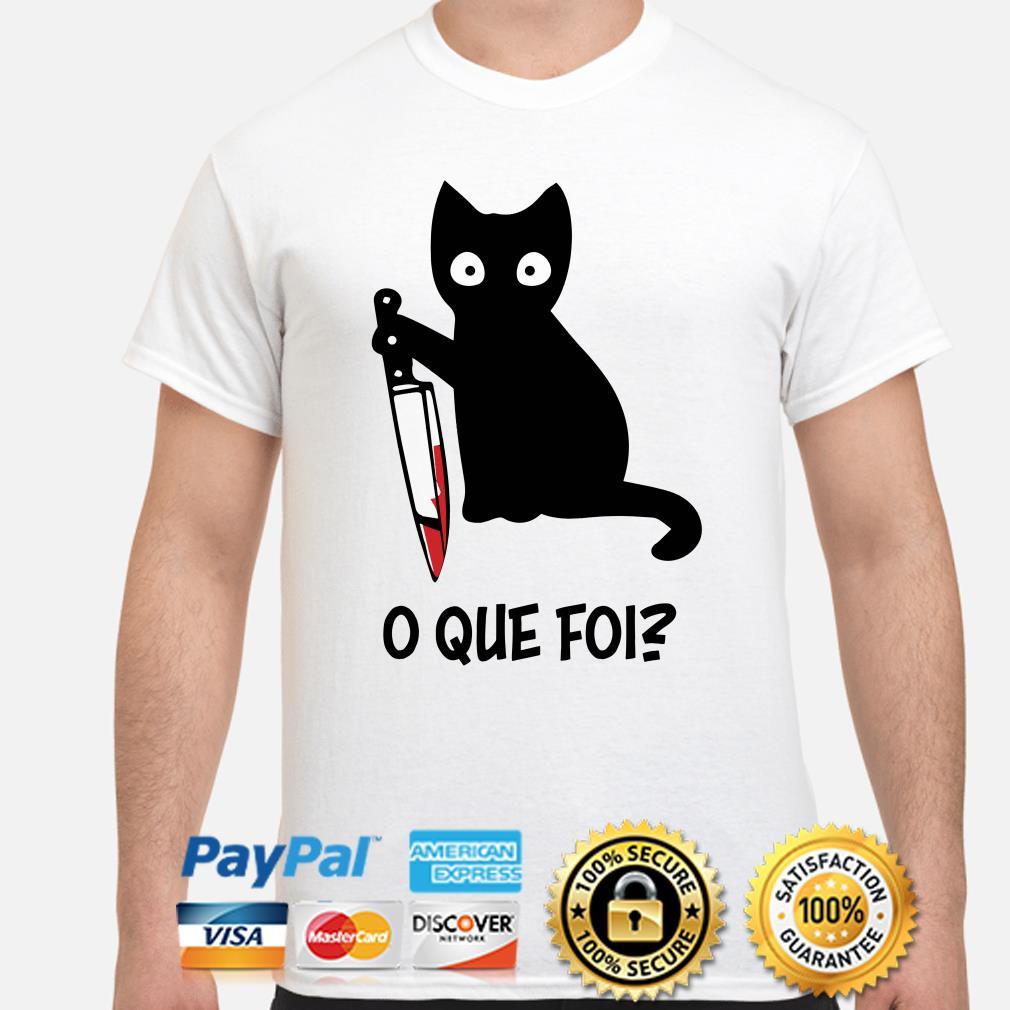 Black cat O Que Foi shirt