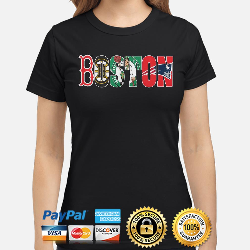 Boston Sports Teams Red Sox Bruins Celtics Patriots ladies shirt