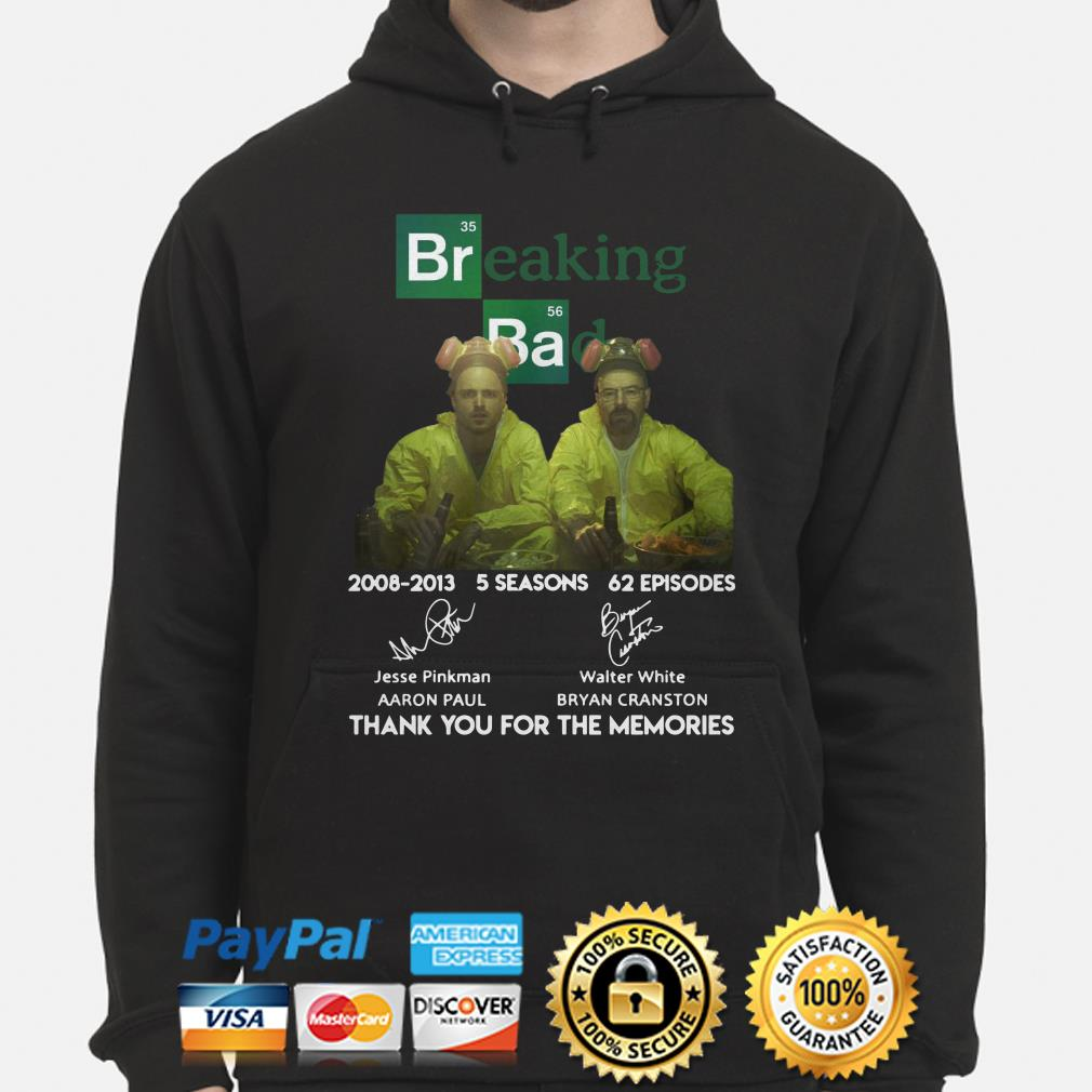 Breaking Bad 2008 2013 thank you for the memories hoodie