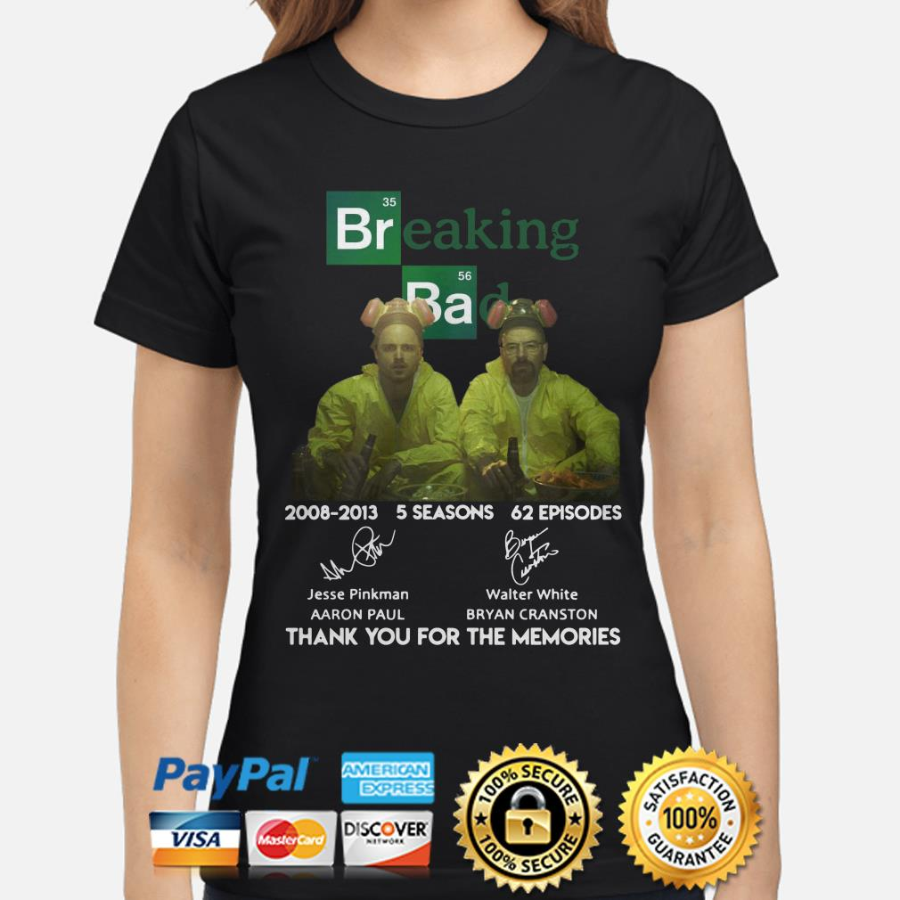 Breaking Bad 2008 2013 thank you for the memories ladies shirt
