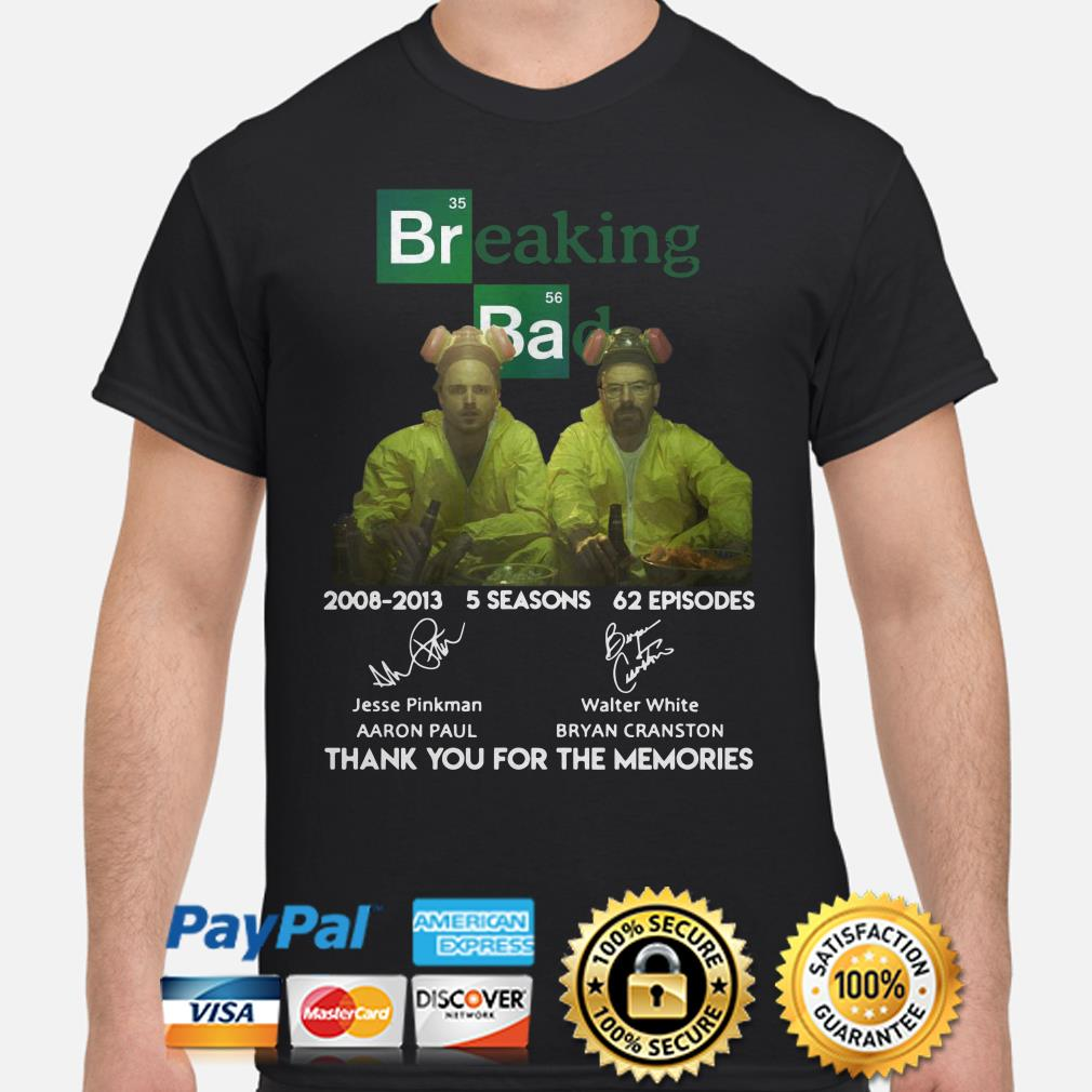 Breaking Bad 2008 2013 thank you for the memories shirt