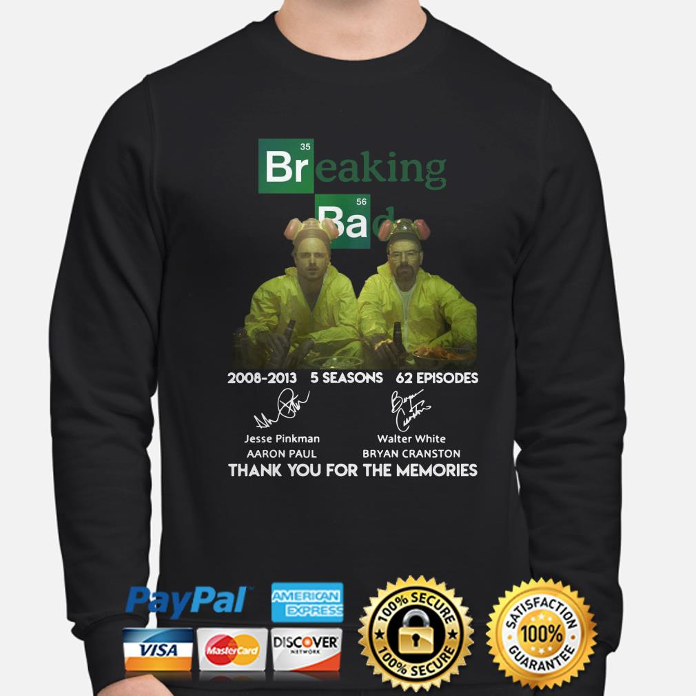 Breaking Bad 2008 2013 thank you for the memories sweater