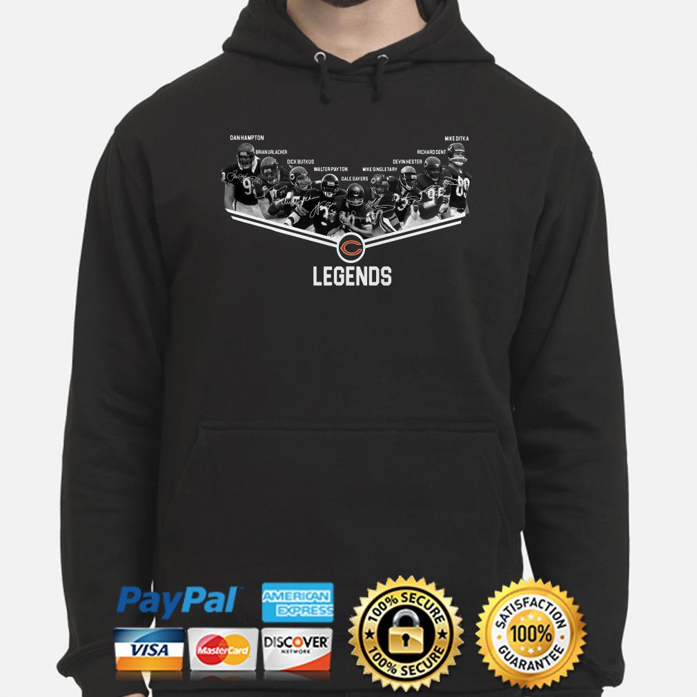 Chicago Bears Legends players signature hoodie