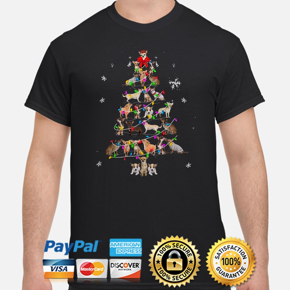 Chihuahua Christmas tree shirt