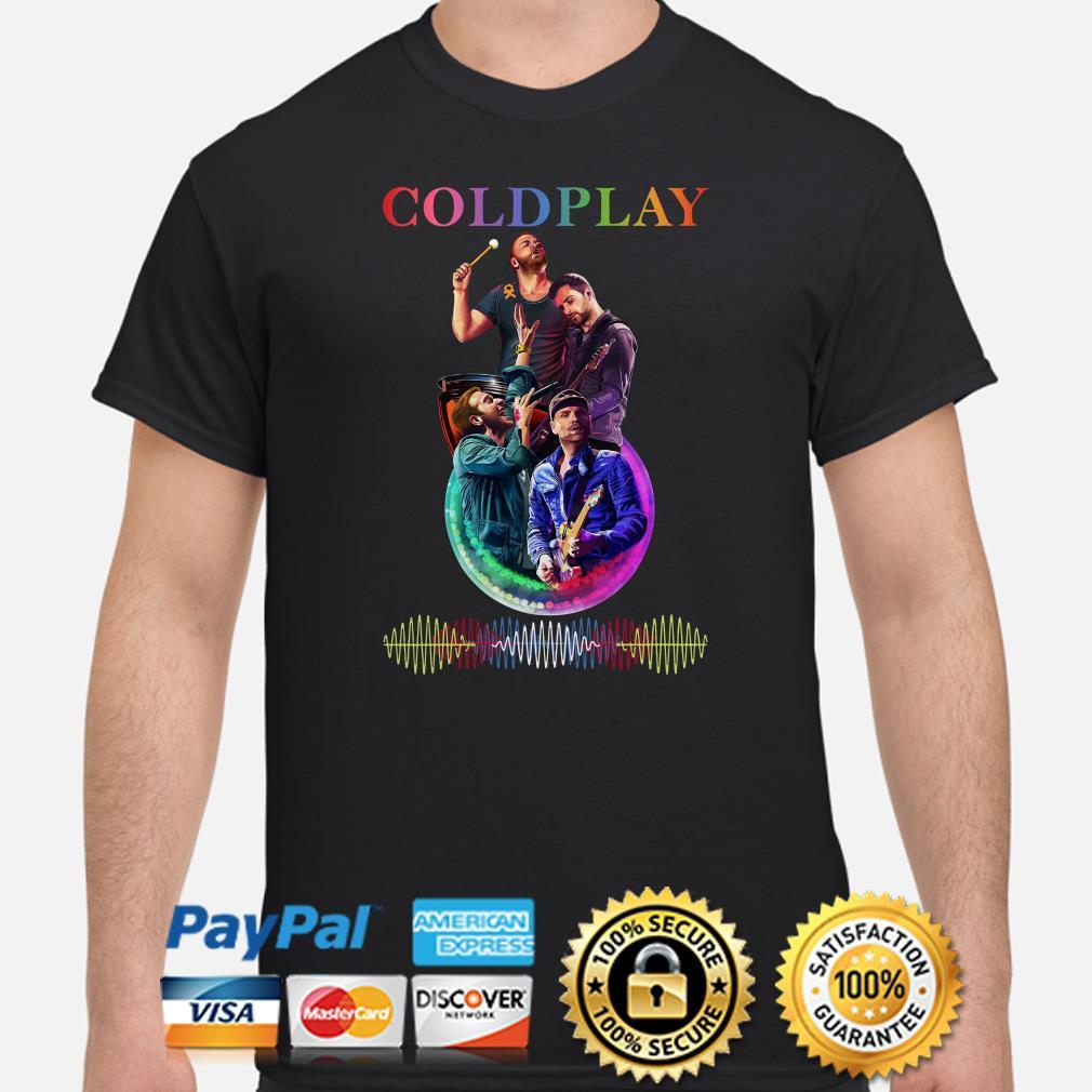 Coldplay band music waves shirt