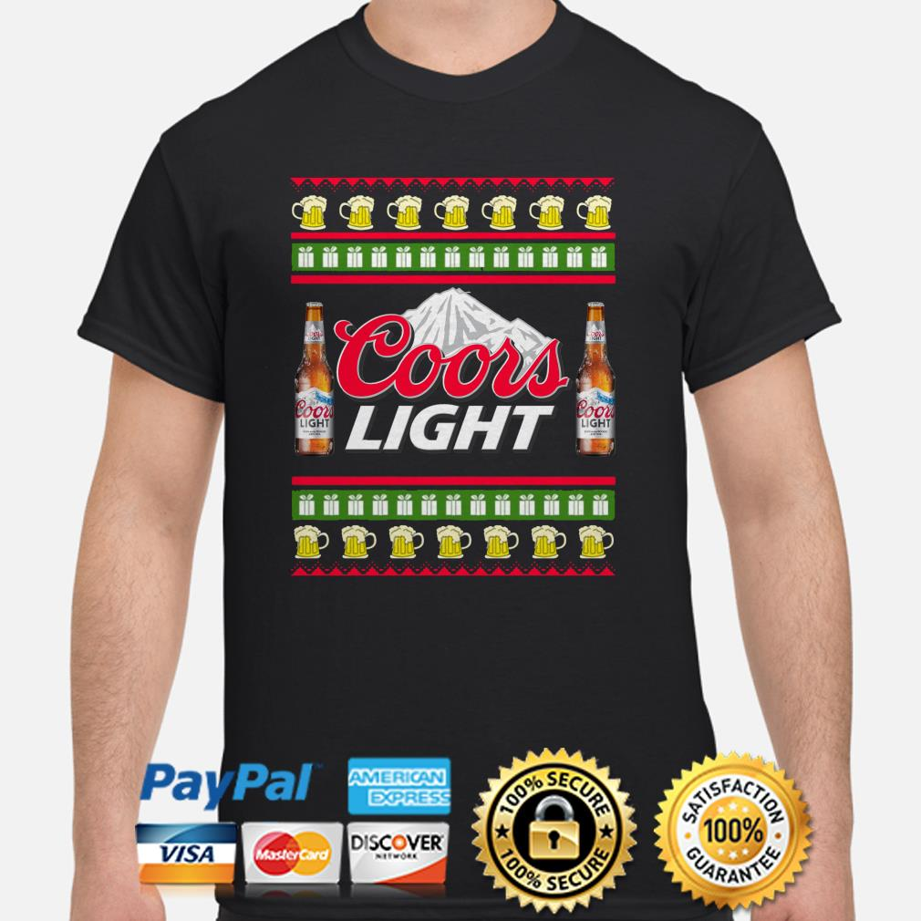 Coors Light beer Ugly Christmas shirt