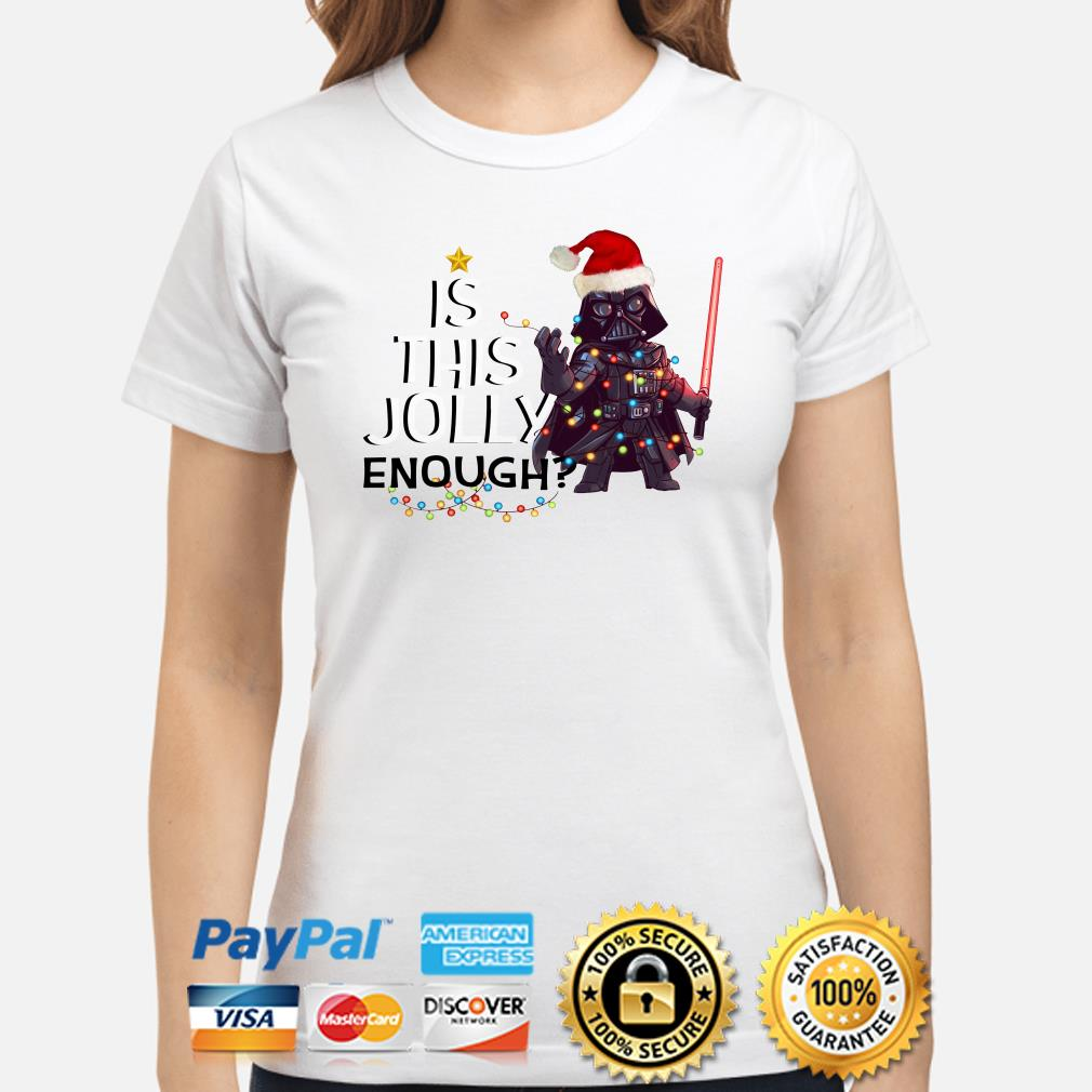 Darth Vader is this jolly enough Christmas ladies shirt