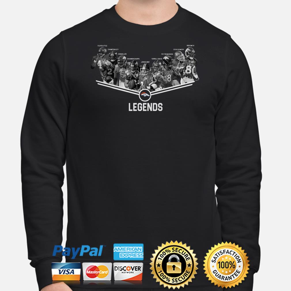 Denver Broncos Legends players signature sweater