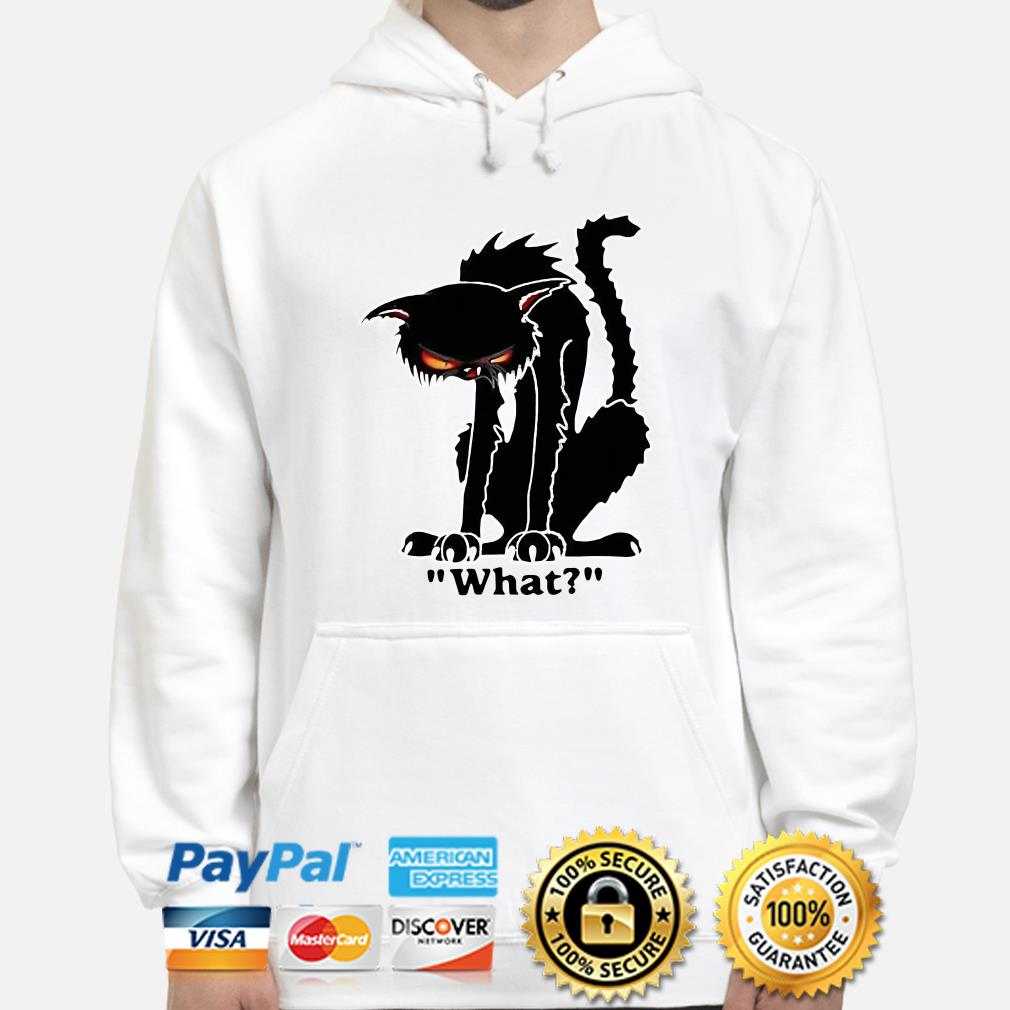 Grumpy black cat what hoodie