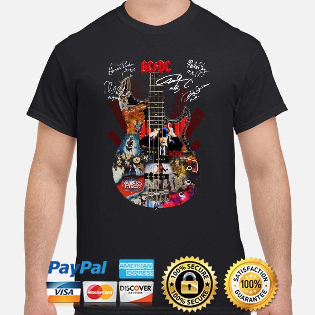 Guitar ACDC signature shirt